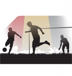 playing soccer vector image vector image