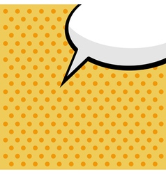 pop art comic speech bubble vector image