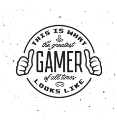 Retro video games related t-shirt design Greatest vector image