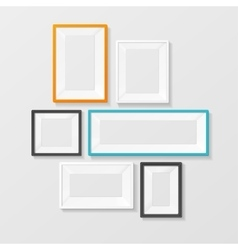 Colorful Picture Frame Template Set vector image