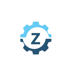 gear solution logo initial z vector image vector image