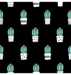 Hand Drawn Cactus Pattern vector image