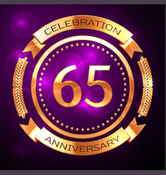 sixty five years anniversary celebration with vector image vector image