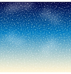 Stars in the night sky vector image