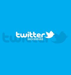 twitter logo background image vector image