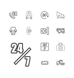 13 assistance icons vector