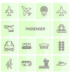 14 passenger icons vector