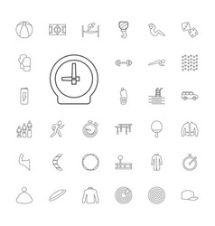 33 sport icons vector