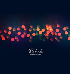 Abstract colorful bokeh lights background vector