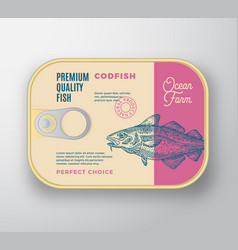 abstract fish aluminium container with vector image