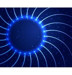 Abstract shining circle background vector