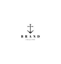 anchor black abstract logo design image vector image
