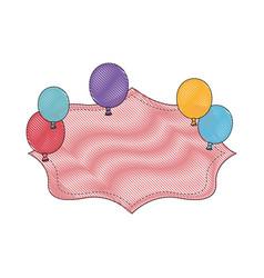 balloon banner globe vector image
