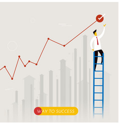 businessman climbs the stairs vector image