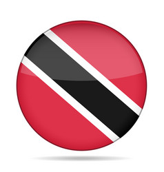 button with flag of Trinidad and Tobago vector image