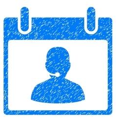 Call Center Manager Calendar Day Grainy Texture vector image vector image