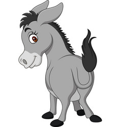 cartoon happy donkey showing ass vector image
