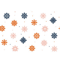christmas texture with red and blue snowflakes on vector image