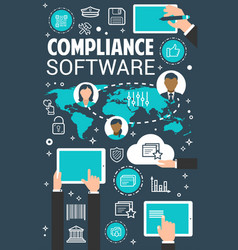 Compliance management software concept banner vector