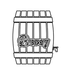 contour barrel icon image design vector image
