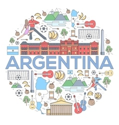 Country Argentina travel vacation guide of goods vector