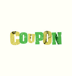 Coupon concept stamped word art vector