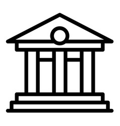 Court building icon outline style vector