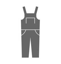 Coverall protective clothing flat icon object vector