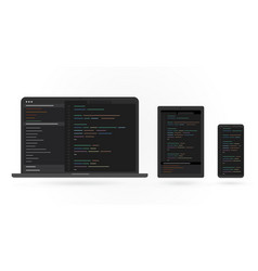 cross platform development adaptive programming vector image
