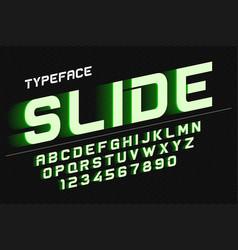 Decorative font design alphabet typeface vector