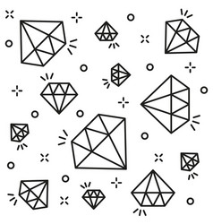 Diamond background black line style vector