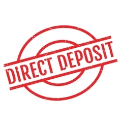 Direct Deposit rubber stamp vector