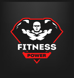 Energy fitness sports logo vector