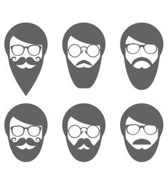 face bearded man - lumbersexual vector image