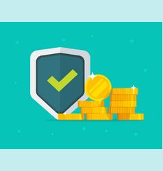 financial insurance guarantees money gold vector image