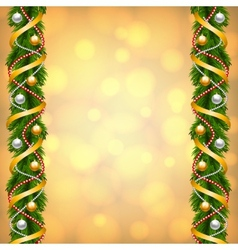 fir-tree decoration vector image