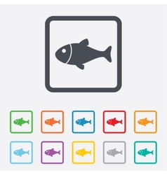 Fish sign icon Fishing symbol vector image