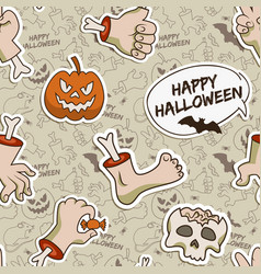 gray halloween seamless pattern vector image