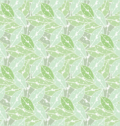 Green leaves seamless pattern backdrop for art vector