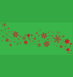 Green snowflake spangled banner vector