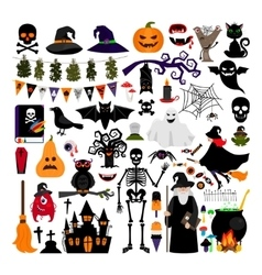 Halloween fashion flat icons vector