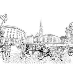 hofburg palace st michaels square vienna vector image