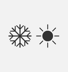 Hot cold icon flat design vector
