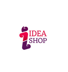 Idea shop icon vector