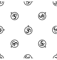 Indian coin pattern seamless black vector