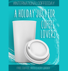 international coffee day banner template vector image