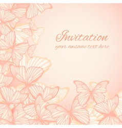 Invitation card template with hand drawn vector image