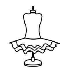 Isolated female skirt design vector