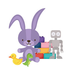 Isolated variety toys design vector