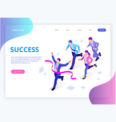 Isometric business success concept entrepreneur vector